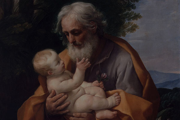 St Joseph with Infant Christ in his Arms *oil on canvas *126 x 101 cm *1620s